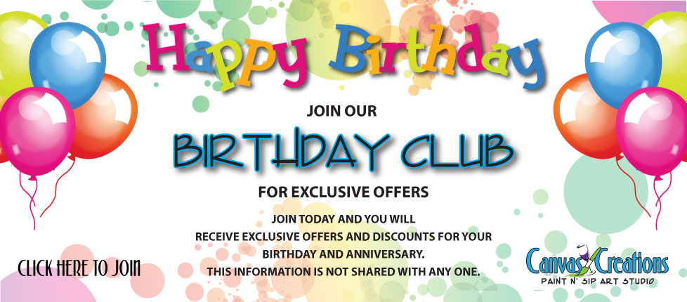 Join our Birthday Club Today!